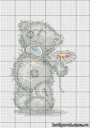 мишка Схема 1 - вышивка